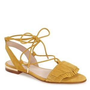 Louise Et Cie Yellow 'Cyan' Fringe Sandal Size 7M